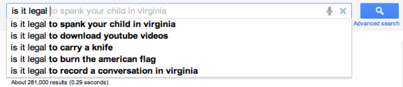 Is it legal to spank in Virginia?