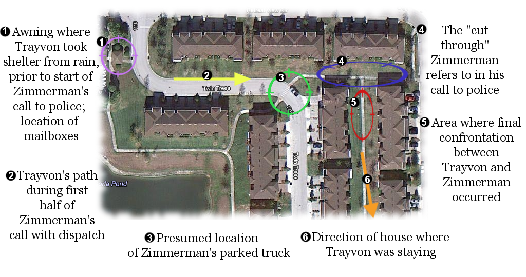 Minute-by-Minute Timeline of Trayvon Martin's Death