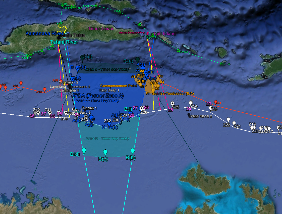 Google earth map for the timor sea maritime boundary dispute the map explosion gumiabroncs Images