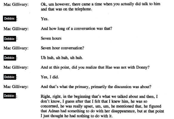 Debbie Conversation