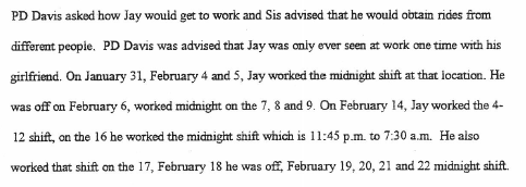 Jay - Work Schedule