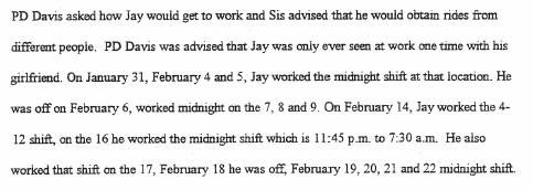 Jay - Work Schedule