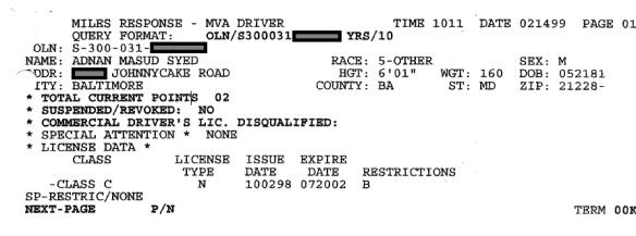 MVA Report - 2-14-99