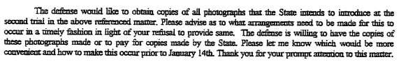 Defense Letter to the State, 1/6/00