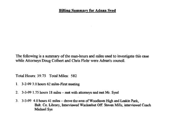 Billing Summary - Drew Davis