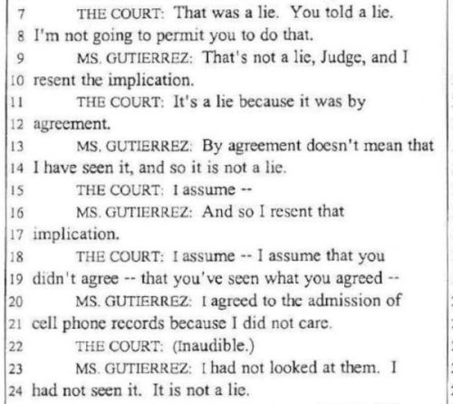 Gutierrez - on the cell evidence
